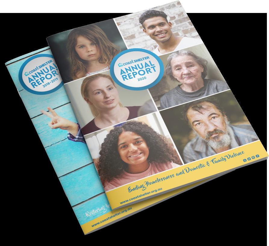 CoastShelter Web About AnnualReport Mockups